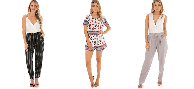 Pull on Harem Pants, Border Print Shorts and Pull on Harem Pants from Ally Fashion