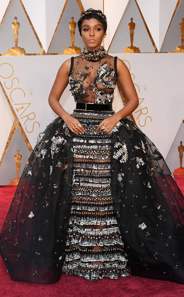 Janelle Monae Oscars red carpet