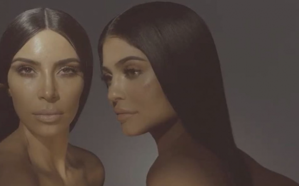 Kim and Kylie announce a makeup collaboration