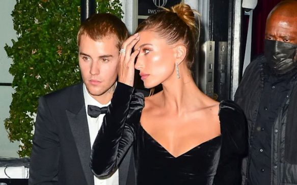 Hailey and Justin Bieber dressed to impress at his art gallery auction celebration